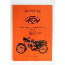 Spare parts catalogue - Jawa 362/00 Californian Oilmaster